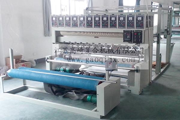 Ultrasonic compound embossing machine (sewing machine)