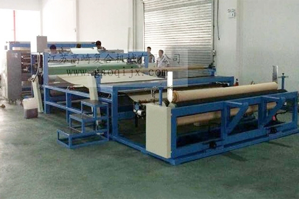 Seamless wall covering hot pressing compound machine