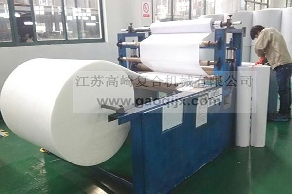 Self-adhesive tape laminating machine