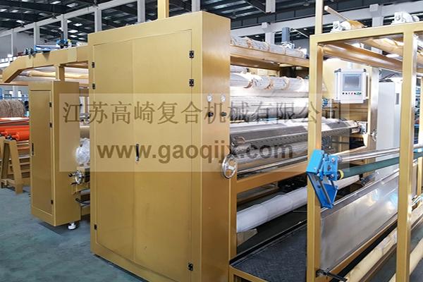 Curtain cloth solvent-free adhesive laminating machine