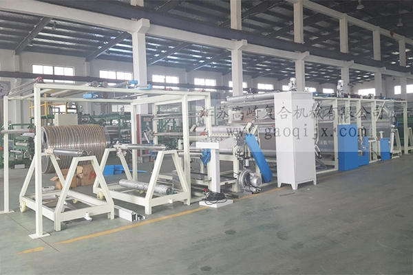 Large roll pile glue point compound machine