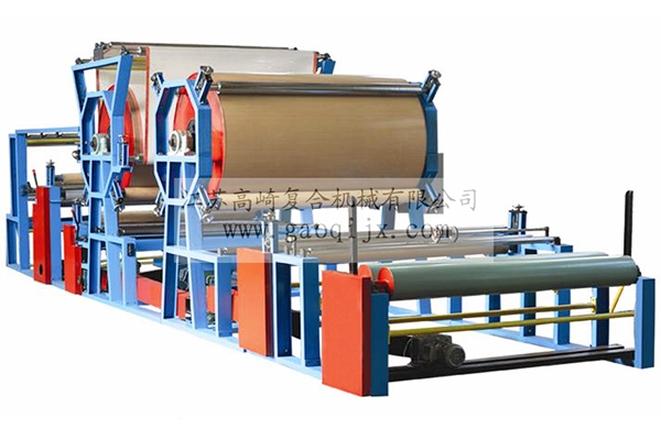 Double dryer cylinder belt compound machine