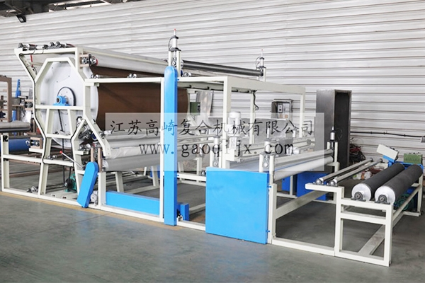 Vertical mesh belt compound machine (with fixed-length slice)